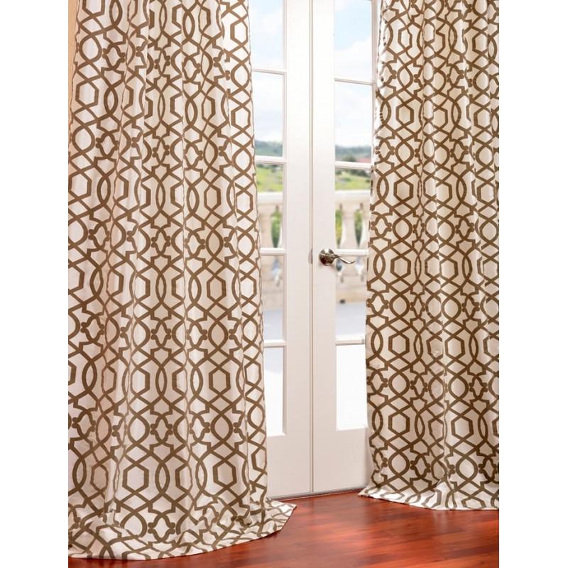 Filigree Pearl Flocked Faux Silk Curtain Curtain Drapery Com