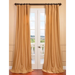 Honey Faux Silk Taffeta Curtain