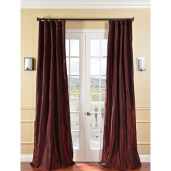 Syrah Faux Silk Taffeta Curtain