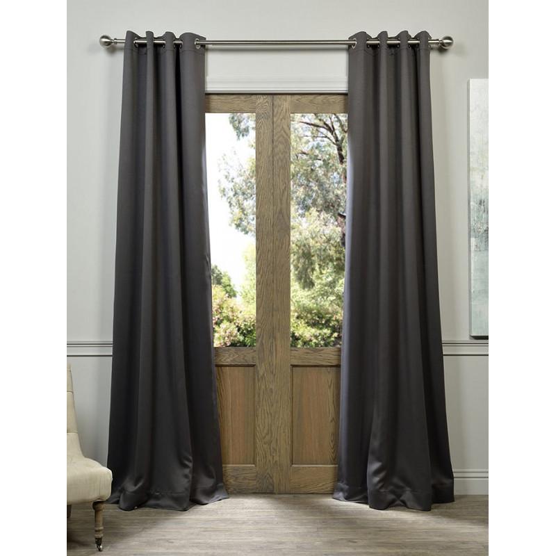 Anthracite Grey Grommet Blackout Curtain Curtain Drapery Com