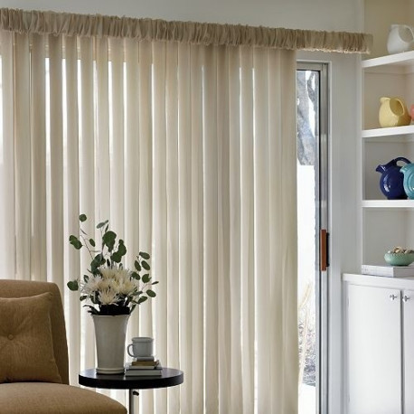 Vertical Blind With Sheer Curtain Drapery Com