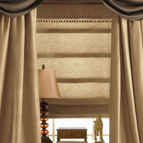 Supreme Lined Roman Shade Curtain Drapery Com