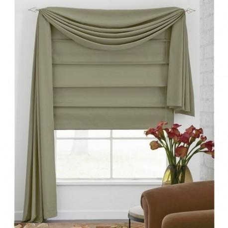 Microfiber Fabric Roman Shade Curtain Drapery Com