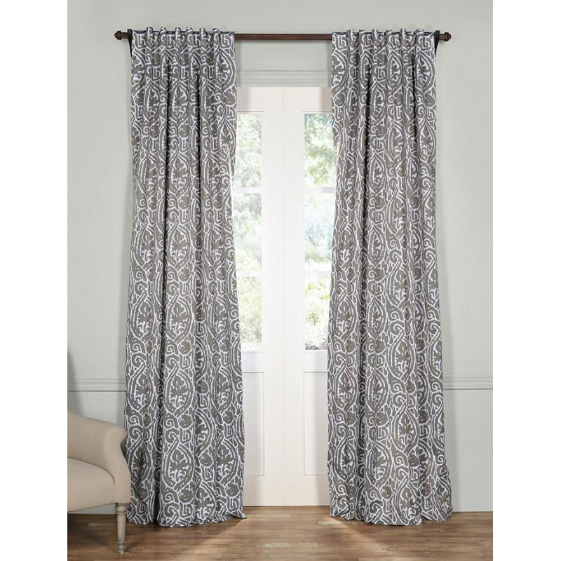 Abstract Lunar Grey Blackout Curtain Curtain Drapery Com