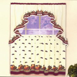 Sorbet Complete Kitchen Curtain Set