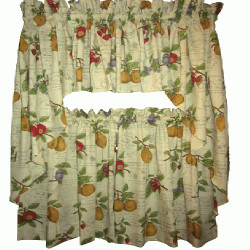 Country Fruit Kitchen Curtain