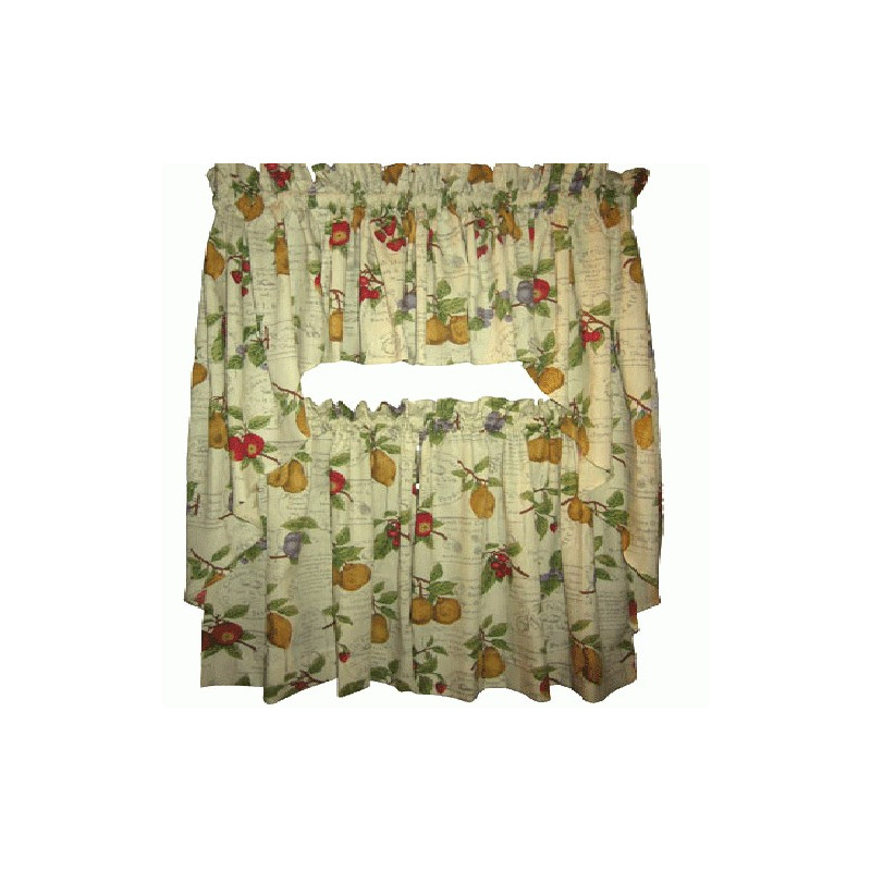 Country Fruit Kitchen Curtain Curtain Drapery Com