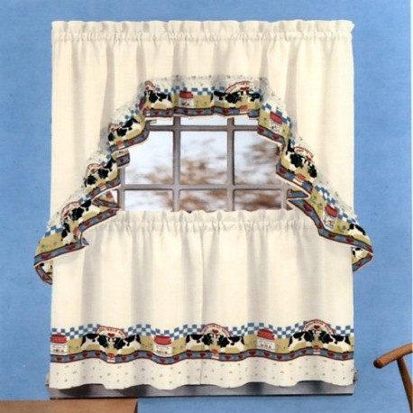 Fresh Milk Cow Country Style Curtain Drapery Com