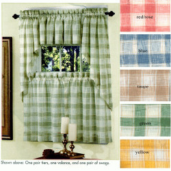 Country Plaid Window Curtain