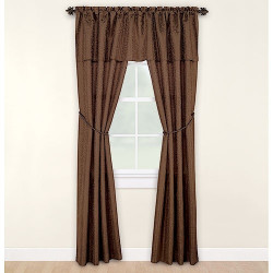 Mainstays Victoria Complete Window Set - Brown