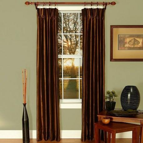 La Scala Silk Pinch Pleat Thermal Curtain Drapery Com