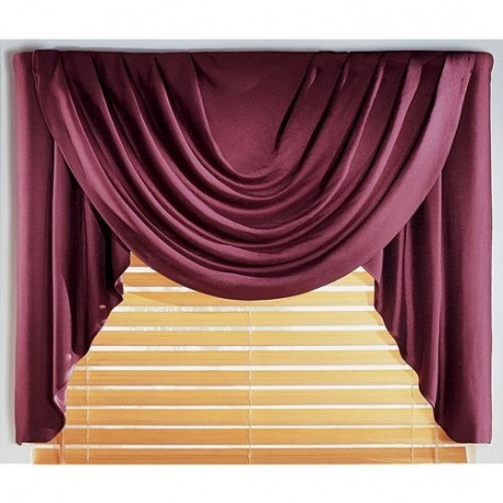 Supreme Antique Satin Solid Valance Curtain Drapery Com