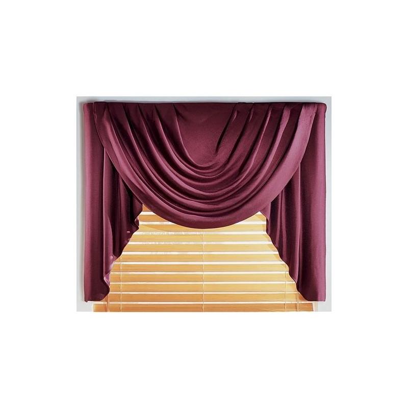 Supreme Antique Satin Solid Valance Curtain Drapery Com