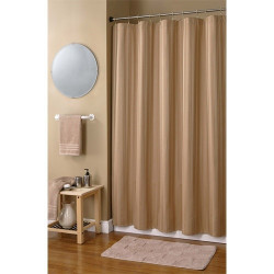 Damask Stripe Fabric Shower Curtain