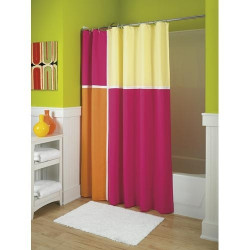 Punch Fabric Shower Curtain