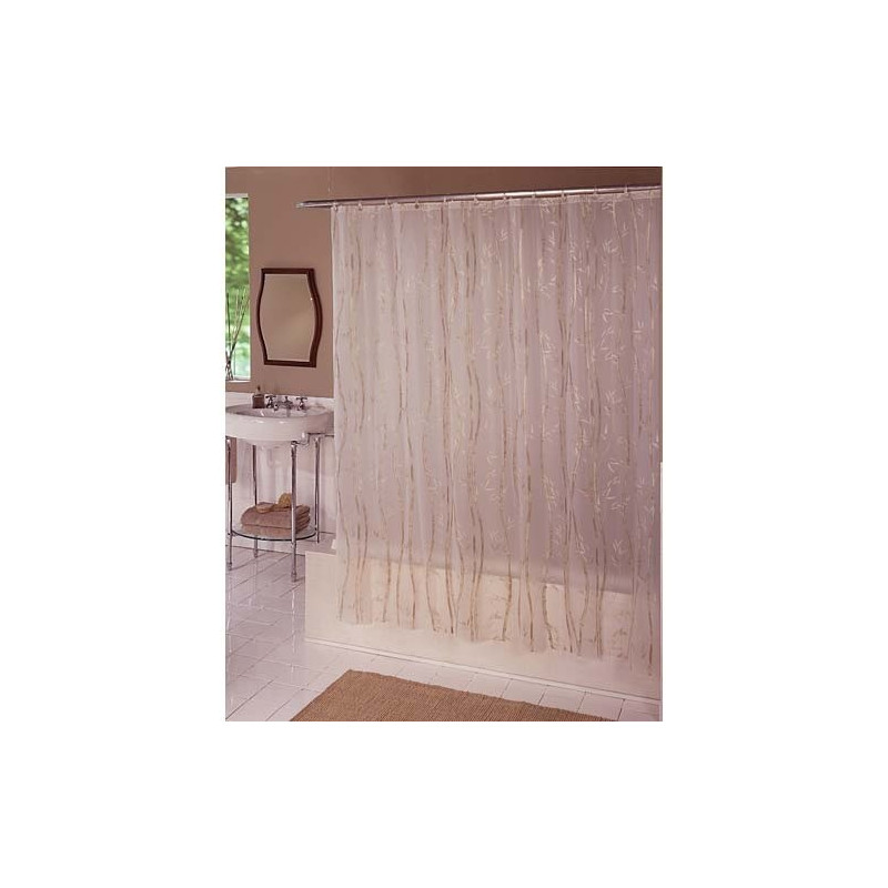 Bamboo Vinyl Shower Curtain Curtain Draperycom