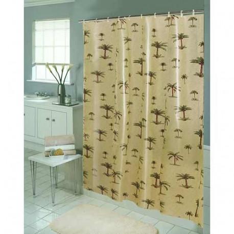 Palm Tree Eva Vinyl Shower Curtain Curtain Draperycom
