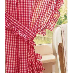 Gingham Ruffled Curtains
