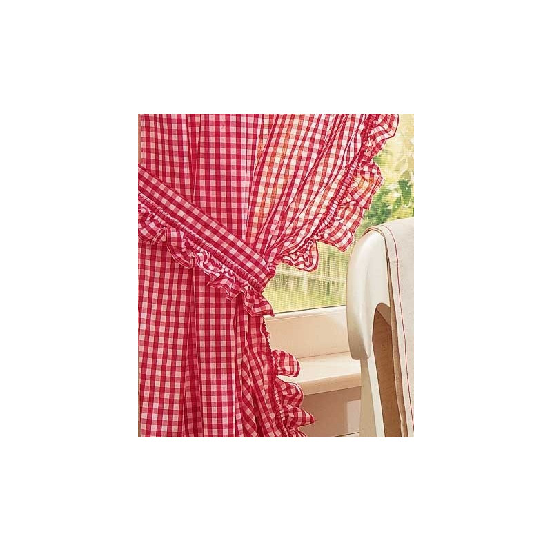 Gingham Ruffled Curtains Curtain Drapery Com