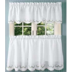 Forget-Me-Not Tier Curtains