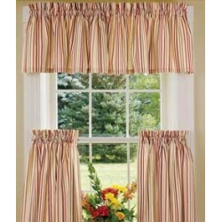 Woven Stripe Tier Curtains