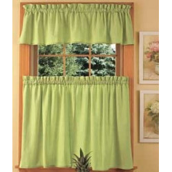 Savannah Seersucker Tier Curtains