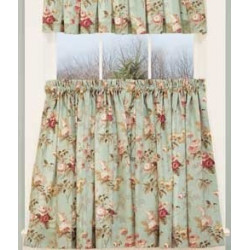 Laura's Garden Floral Tier Curtains