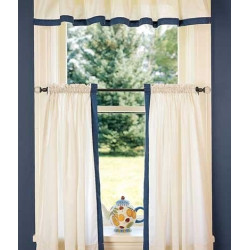 Band of Color Tier Curtains