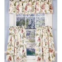 Cottage Garden Lined Tier Curtains