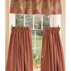 Barrington Plaid Tier Curtains
