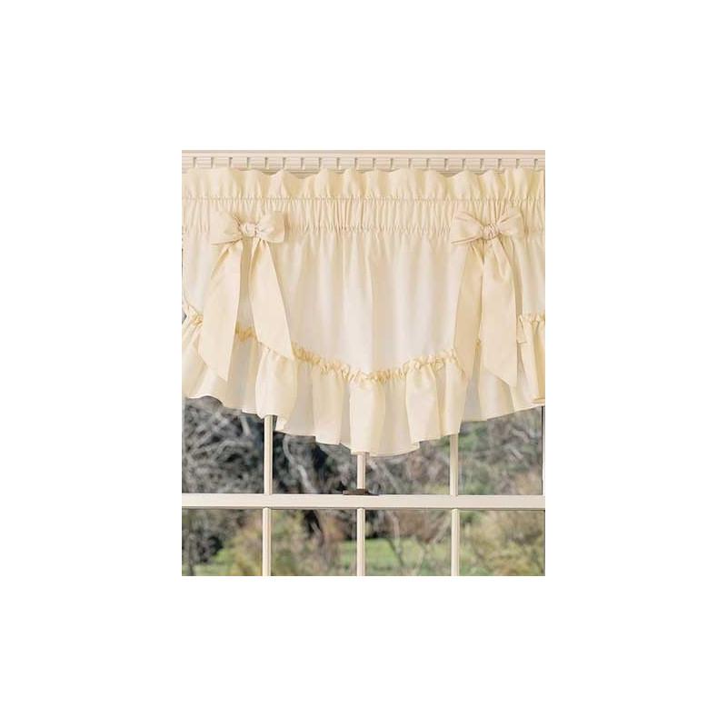 Victorian Ruffles Tapered Valance Curtain Drapery Com