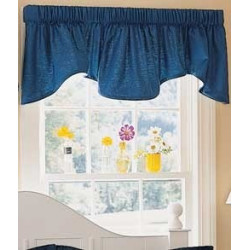 Weaver's Cloth Lined Scalloped Valance
