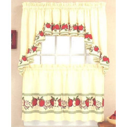 Red Delicious Kitchen Curtain
