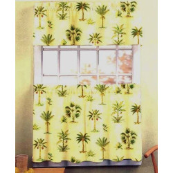 Tropics Kitchen Curtain