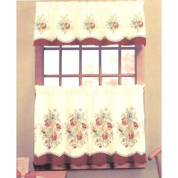 English Rose Kitchen Curtain