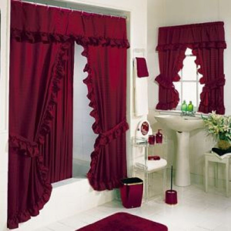 Tiara Deluxe Double Swag Shower Curtain Curtain Drapery Com