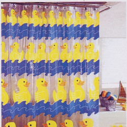 Duck Stops Here Shower Curtain