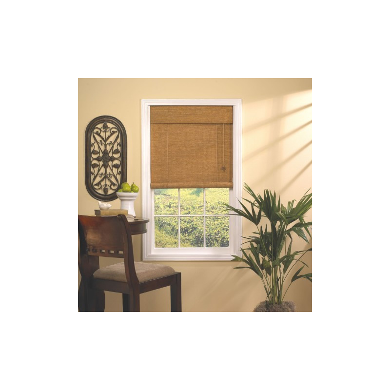 Woven Cane Paper Rollup Blind Curtain Drapery Com