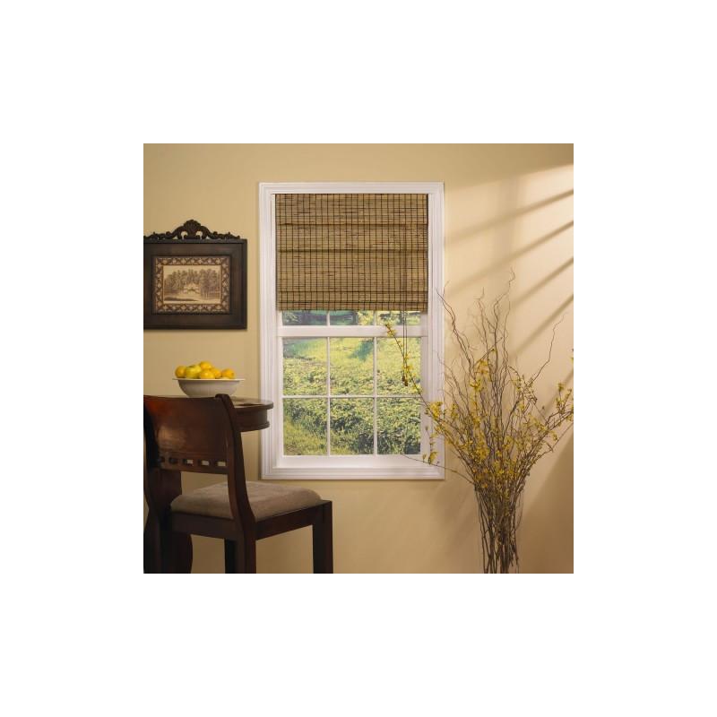 Deluxe Bamboo Roman Shade Curtain Drapery Com
