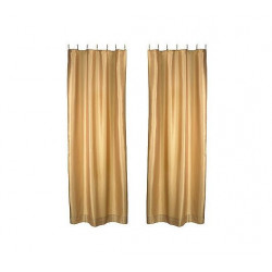 Savvy Home Collections Panel Curtains w/ BeadedRing Clips