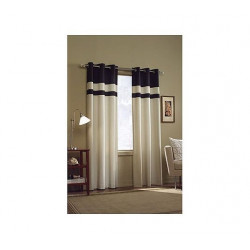 Nantucket Pieced Cotton Curtain Panel with Grommet Top