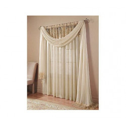 Bali Crushed Voile and Macrame Tailored Panel