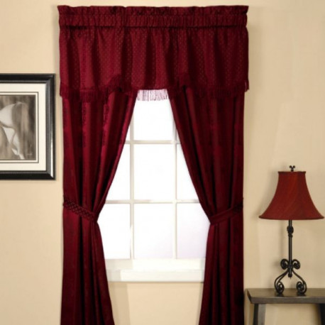 classic-stripe-5-piece-window-set---burgundy