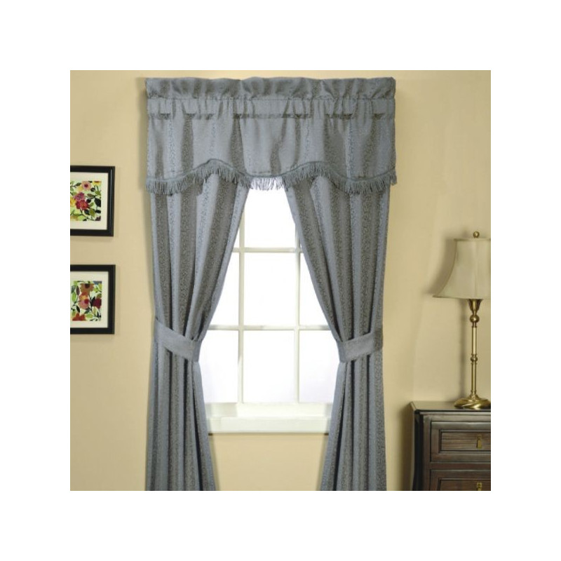 Classic Scroll 5 Piece Window Set Wedgewood Curtain