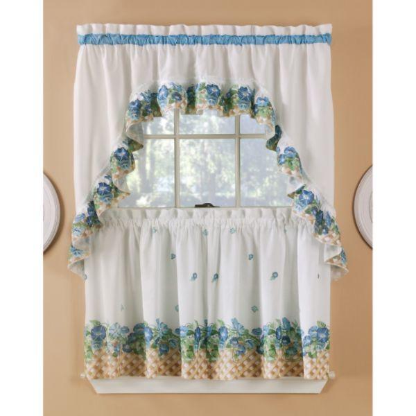 Morning Glory Tier Set - Curtain-Drapery.com