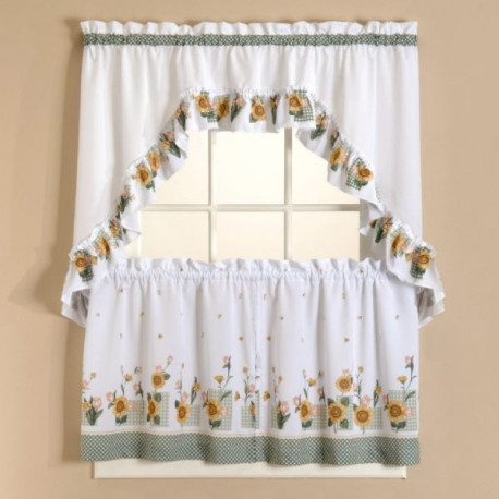 Sunflower Tier Curtains Set Curtain Drapery Com
