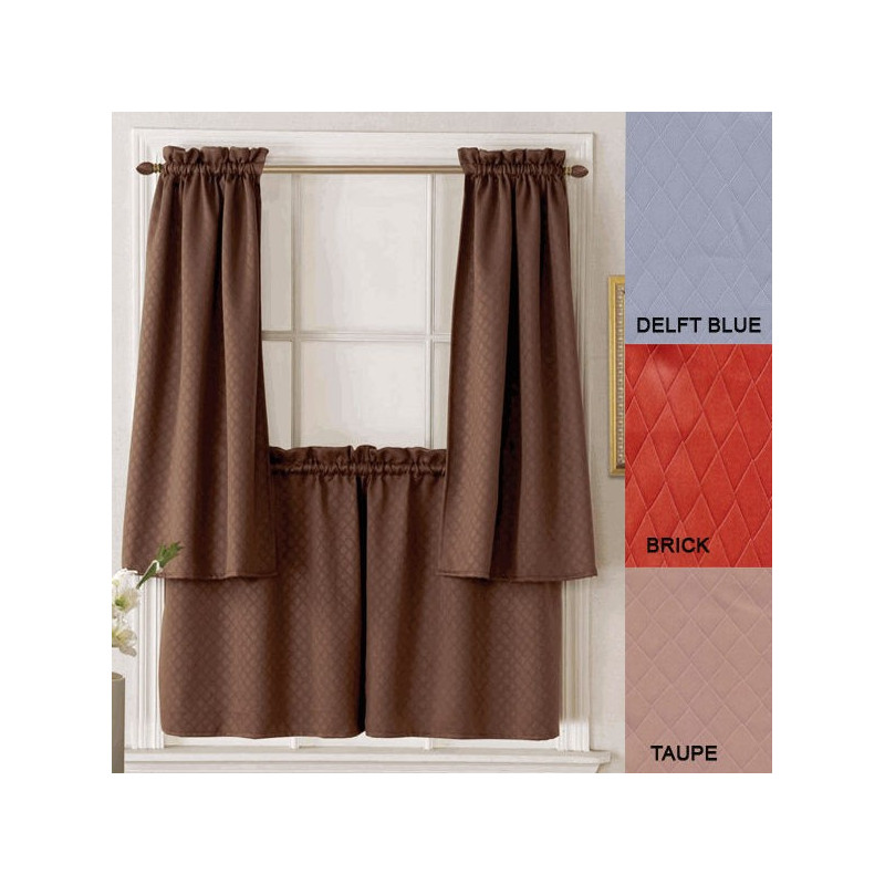Facets Insulated Tailored Curtain Tier And Panel Curtain