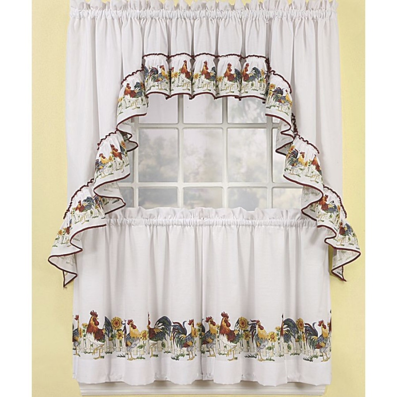 Rooster Kitchen Curtains Curtain Drapery Com