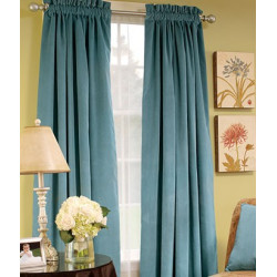 Hyde Park Lined Velvet Rod Pocket Curtains