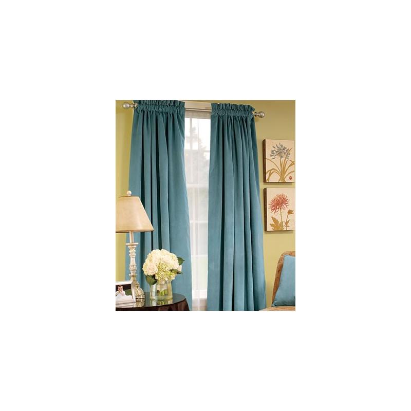 Hyde Park Lined Velvet Rod Pocket Curtains Curtain